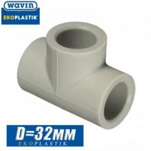 Тройник паечный Wavin D32 мм