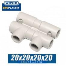 Распределительный узел Wavin D=20x20x20x20 мм