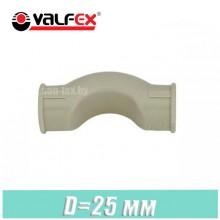 Обвод короткий полипропилен Valfex D25 мм
