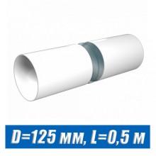 Труба вентиляционная D=125 мм L=0,5 м