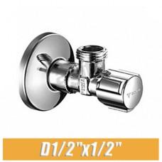 """Вентиль угловой ХРОМ Schell Comfort D1/2""""x1/2"""""""