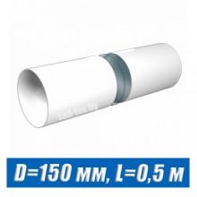 Труба вентиляционная D=150 мм L=0,5 м