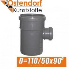 Тройник канализационный Ostendorf D110/50x90 град.