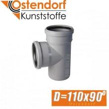 Тройник канализационный Ostendorf D110x90 град.