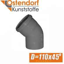 Угол канализационный Ostendorf D110x45 град.