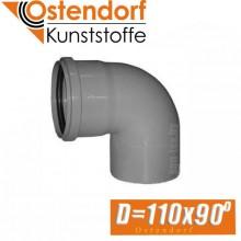 Угол канализационный Ostendorf D110x90 град.