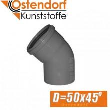 Угол канализационный Ostendorf D50x45 град.