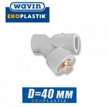 Обратный клапан полипропилен Wavin D40 мм